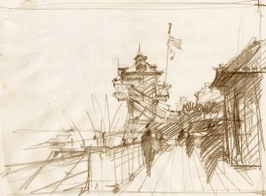 Landscape pencil sketch