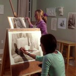 Teens drawing classe at Renaissance School of Art Sarasota