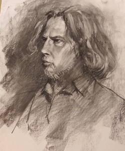 life figure drawing - Portrait August 24